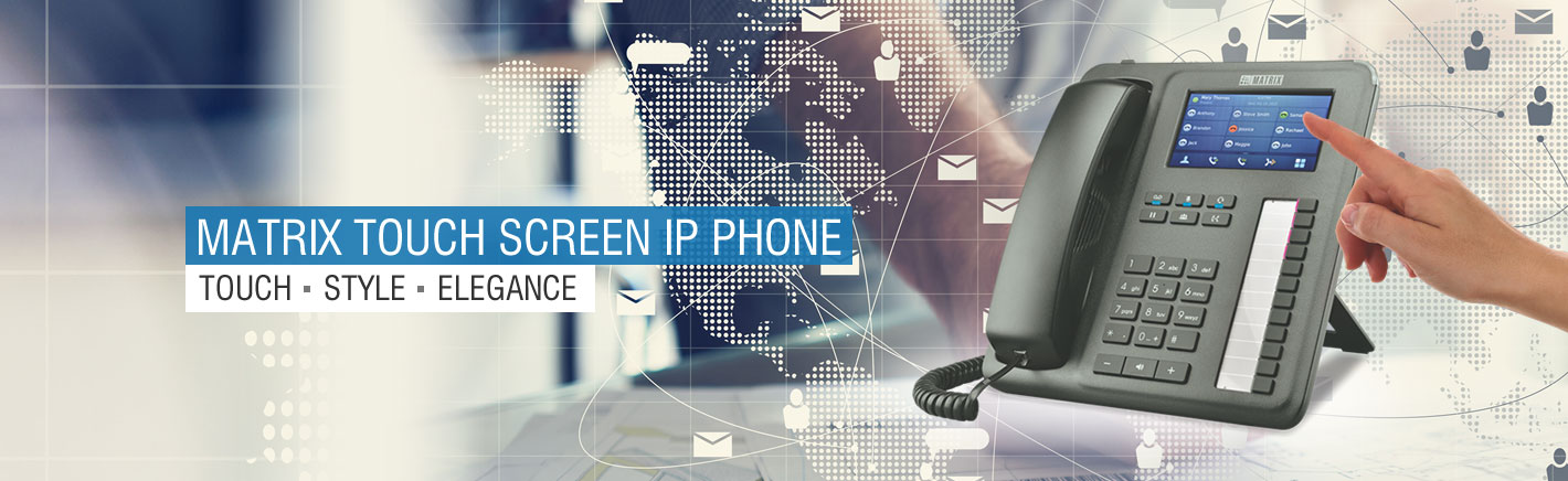touch screen ip phone solution